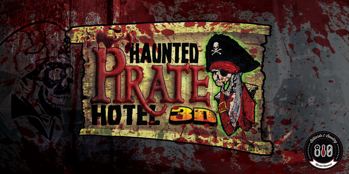 haunted house, haunted house myrtle beach, myrtle beach, zombie, pirate, zombie pirate, 3D haunted house, bowling, 810, Zombie pirate hotel haunted house,