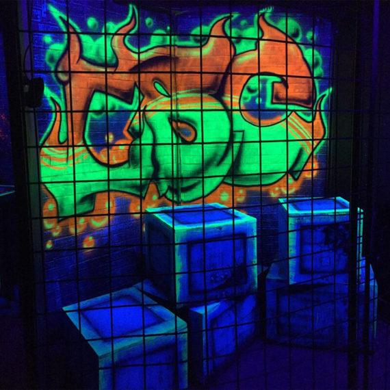 black light haunted house